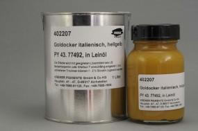 Italian Gold Ochre Light in Linseed Oil