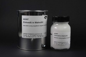 Zinc White in Walnut Oil