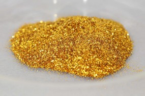 Polyester Glitter Royal Gold