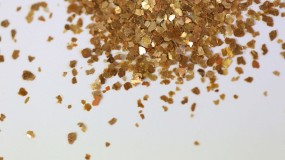 Mica Flakes, gold-copper, 1 - 3 mm