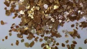 Mica Flakes, gold-copper, 1 - 5 mm
