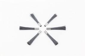 1 set of 6 erasing tips, nylon hair 0.30 mm, black