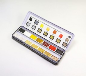 Kremer Watercolor Set Gold Retouching Colors