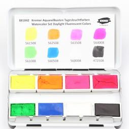 Kremer Watercolor Set Fluorescent Colors - Small