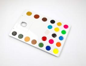 Palette, solvent resistance
