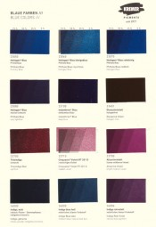 Color Chart Kremer Pigments - Blue Colors