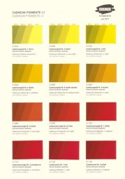 Color Chart Kremer Pigments - Cadmium Pigments