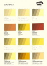 Color Chart Kremer Pigments - Yellow Colors