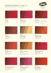 Color Chart Kremer Pigments - Organic Pigments