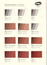 Color Chart Kremer Pigments - Pearlescent Pigments