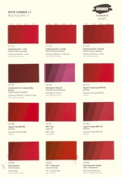 Color Chart Kremer Pigments - Red Pigments
