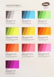 Color Chart Kremer Pigments - Fluorescent Pigments