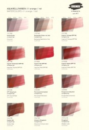 Color Chart Kremer Pigments - Watercolor