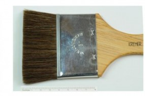 Flat Brush, Fine Ox Hair, No. 2 in