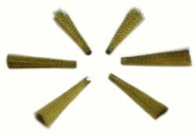 1 set of 6 erasing tips brass wire 0.12 mm