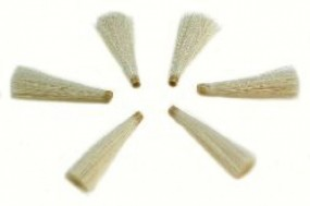 1 set of 6 erasing tips, white goat hair