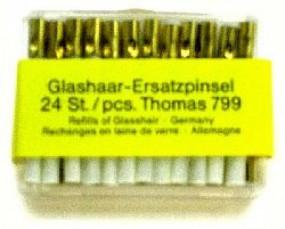 1 set of 24 erasing tips, glass fibre