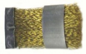 Brush, 55 x 23 mm, brass wire 0.15