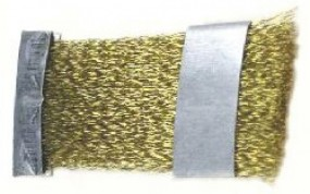 Brush, 70 x 28 mm, brass wire 0.15