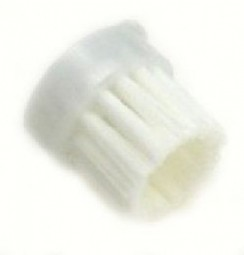 Round brush, white nylon hair