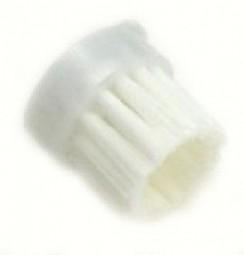 Round brush, white nylon hair