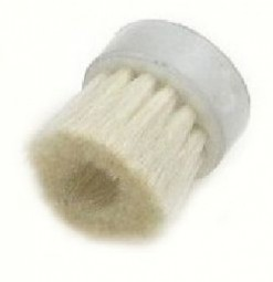 Round brush, white goat hair