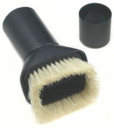Universal adapter brush, white / black horse hair